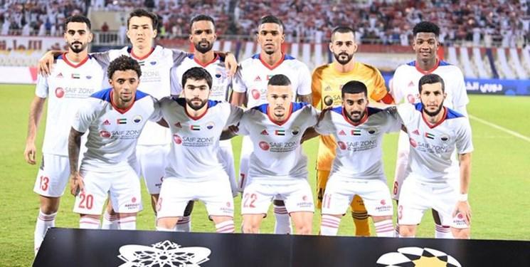 حمایت باشگاه عجمان از الشارجه مقابل پرسپولیس+عکس