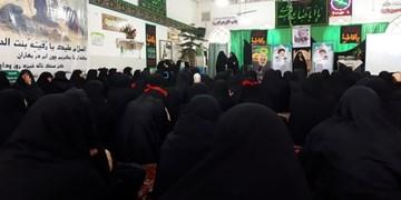 برگزاری آیین سوگواری ایام فاطمیه و بزرگداشت سردار سلیمانی+ تصاویر