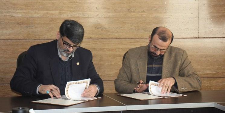 امضای تفاهمنامه همکاری بسیج دانشجویی استان قزوین و کمیته امداد استان قزوین