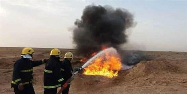 آتشسوزی در خط لولههای نفت در شمال استان «ذیقار» عراق