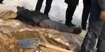 «کارگر دفن» در  تبریز حین گورکنی درگذشت