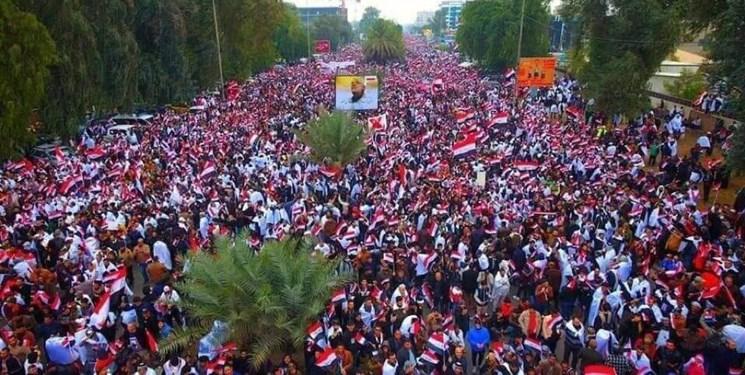 تظاهرات میلیونی در بغداد برای اخراج آمریکا از عراق