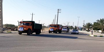 ارسال کمکهای مردم رفسنجان به سیلزدگان سیستان و بلوچستان توسط موکب خاتم الانبیاء