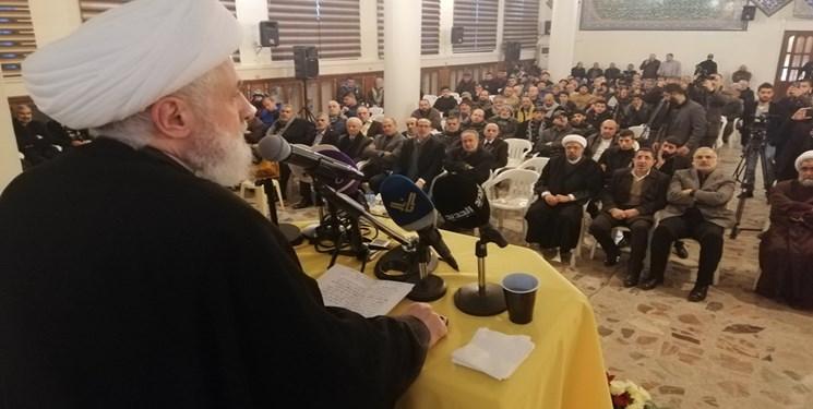 شیخ نعیم قاسم: ثمره خون شهید سلیمانی «نه به آمریکا در کل منطقه» است
