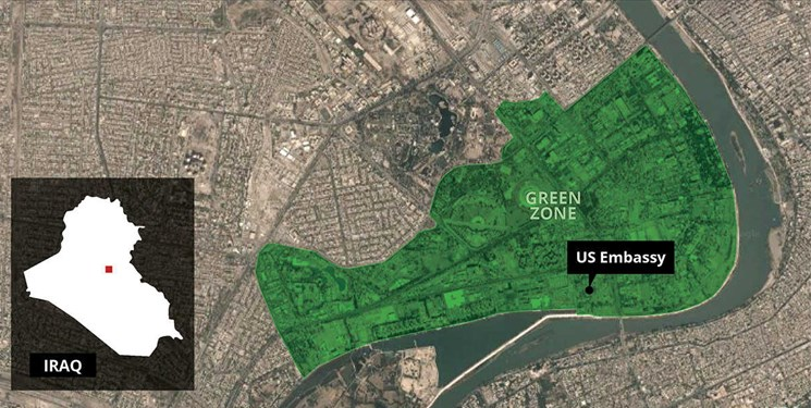اصابت چند راکت به مرکز فرماندهی نیروهای ائتلاف آمریکا در بغداد