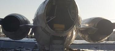 تصاویری از سانحه خروج هواپیمای کاسپین از باند در ماهشهر