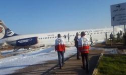 2 مصدوم در حادثه خروج هواپیما از باند فرودگاه ماهشهر