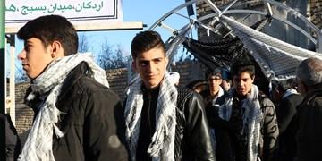 اعزام کاروان دانشآموزان پسر اردکان به اردوی راهیان نور + تصاویر