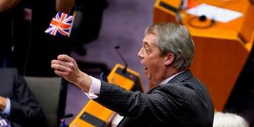 جدال لفظی معاون پارلمان اروپا با رهبر حزب برگزیت؛ «پرچمتان را بردارید و از جلسه خارج شوید»