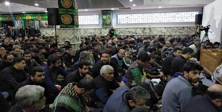 بغضهای شکسته در «بیتالزهراء کرمان» در فراق حاجقاسم+فیلم و تصاویر