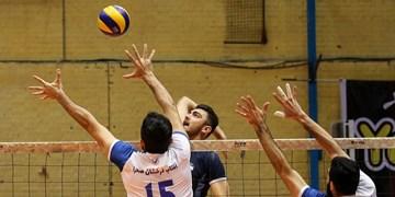 برتری بلندقامتان والیبال شهرداری قزوین در لیگ یک