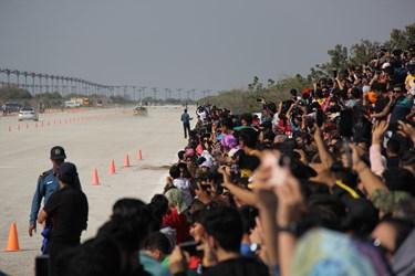 گزارش تصویری | مسابقات اتومبیلرانی شتاب کیش