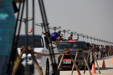 گزارش تصویری   مسابقات اتومبیلرانی شتاب کیش