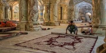 ۴ هزار مترمربع از صحن حضرت زهرا (س) در نجف مفروش شد