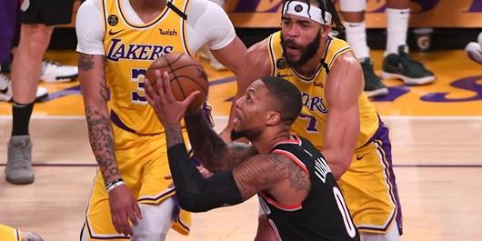 پلیآف NBA  غیبت ستاره پورتلند در بازی پنجم مقابل لیکرز