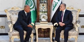 دیدار وزیر خارجه عراق با «ابوالغیط» و «عباس» پیش از نشست اتحادیه عرب
