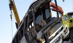 واژگونی اتوبوس در اتوبان پیامبر اعظم  با یک کشته و 23 مصدوم
