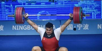 وزنهبرداری قهرمانی آسیا|3 مدال طلا بر سینه داوودی در دسته 109+ کیلوگرم+عکس و فیلم