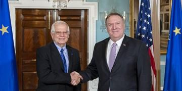 پامپئو و بورل بر اهمیت همکاری آمریکا-اروپا برای مقابله با کرونا تأکید کردند