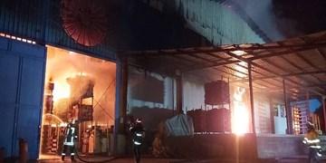 مهار آتشسوزی در شهرک صنعتی شیراز