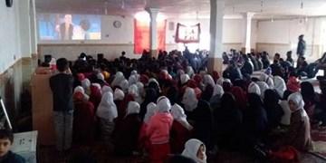 کودکان مرزنشین خراسان شمالی میزبان سینما سیار شدند