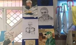 افتتاح نمایشگاه تصاویر مراسم تشییع شهید سردار سلیمانی در گچساران