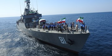 حضور پنجاه و نهمین ناوگروه نیروی دریایی ارتش در دریای دور برای تامین منافع کشور