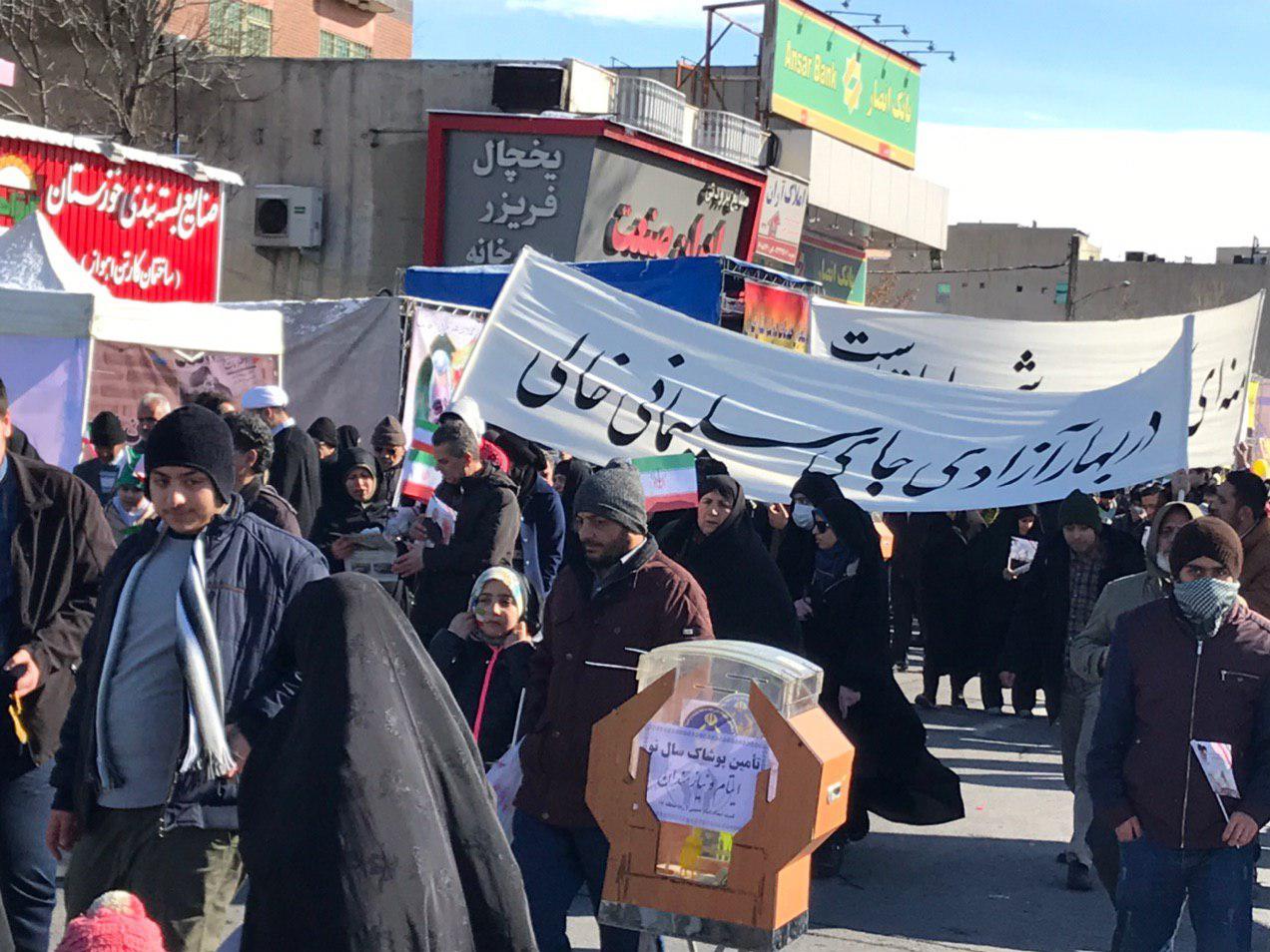 راهپیمایی ۲۲ بهمن| قدرتنمایی لشکر میلیونی سلیمانی/ تشییع جنازه تروریستهای آمریکایی