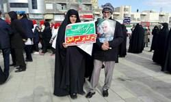 برف و سرما هم مانع راهپیمایی با شکوه زنجانیها نشد+ فیلم و عکس