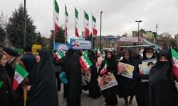 فیلم| طنین صلوات خاصه امام رضا(ع) در راهپیمایی22 بهمن