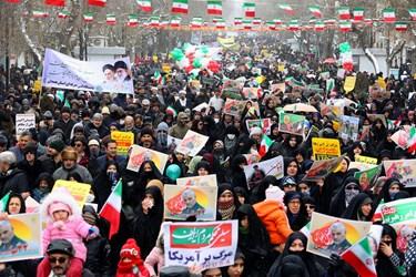 راهپیمایی انقلابی ۲۲ بهمن در همدان