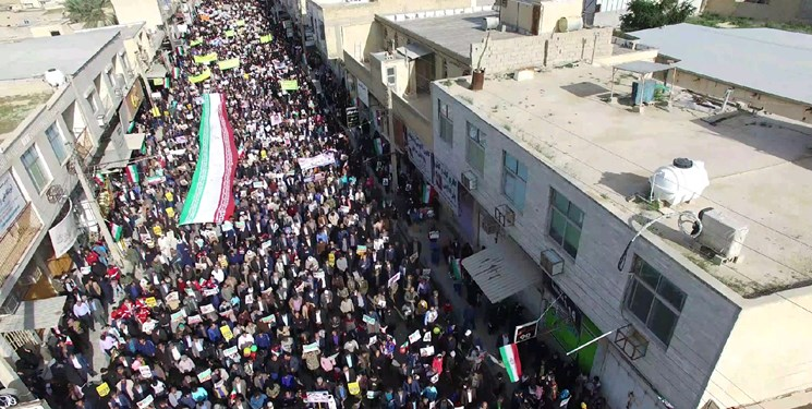 تصاویر| راهپیمایی 22 بهمن در شهرهای استان بوشهر