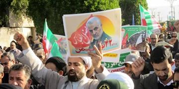 حماسه حضور مردم دیر در 22 بهمن/ رونمایی از کیک 41 سالگی انقلاب+ تصاویر و فیلم