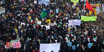خروش انقلابی مردم استان اردبیل در راهپیمایی ۲۲ بهمن