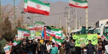 خروش حماسی مردم مهریز در راهپیمایی 22 بهمن 98