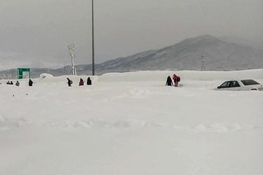 بارش برف و کولاک در«امامزاده هاشم گیلان»
