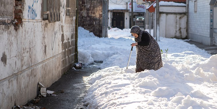 عکس| خیابانهای رشت پس از توقف بارش برف