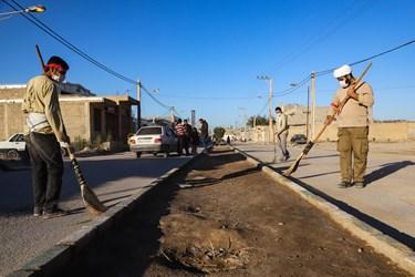 حضور گروه جهادی بسیج دانشجویی  در منطقه عین دو  اهواز