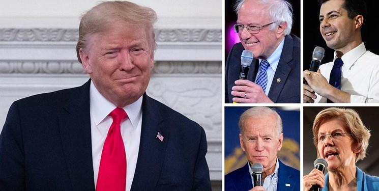 سندرز در صدر دموکراتها است اما ترامپ بالاتر از همه نامزدها است