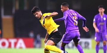 لیگ قهرمانان آسیا  تساوی سپاهان و العین در نیمه اول