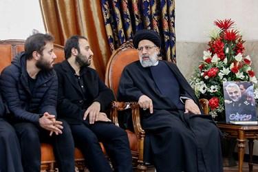 دیدار رئیس قوه قضائیه با خانواده«حاج قاسم»
