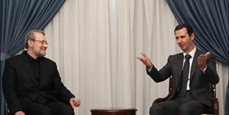 لاریجانی در دیدار با بشار اسد: تهران از مبارزه سوریه علیه تروریستها حمایت میکند