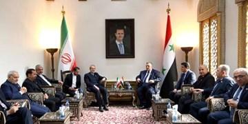 رئیس مجلس: ایران در بازسازیها کنار سوریه ایستاده است