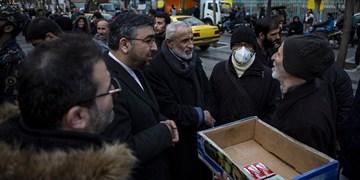 گپ و گفت نامزدهای انتخابات با مردم در بازار تهران
