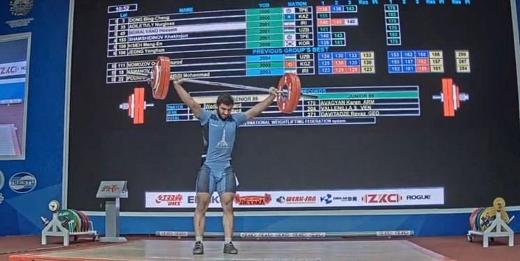 وزنه برداری نوجوانان و جوانان قهرمانی آسیا| ششمی بیرالوند در دسته 89 کیلوگرم جوانان