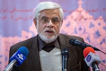 محمدرضا عارف در نشست خبری ستاد ائتلاف برای ایران