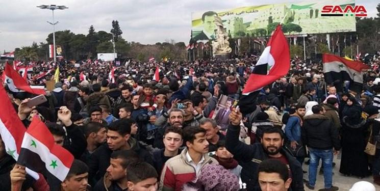 تصاویر  جشن و پایکوبی در حلب به مناسبت آزادی کامل شهر