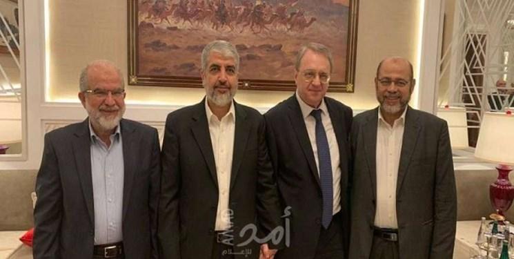 دیدار «بوگدانوف» با سران حماس در دوحه؛ تأکید بر رد معامله قرن