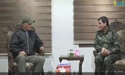 دیدار مقام پارلمانی آمریکا با سرکرده شبه نظامیان «قسد» در شمال سوریه