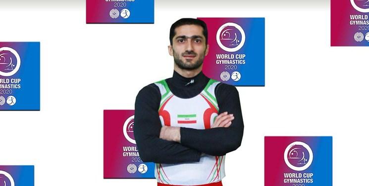 جام جهانی ژیمناستیک  کیخا به مدال نقره رسید/ یک گام تا سهمیه المپیک